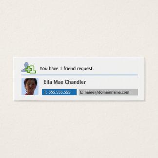 Sozialvernetzung - Sie haben 1 Freund-Antrag Mini-Visitenkarten