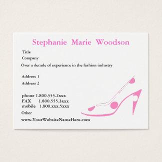 Sozialvernetzungs-Absatz-Schuh-Rosa Visitenkarte