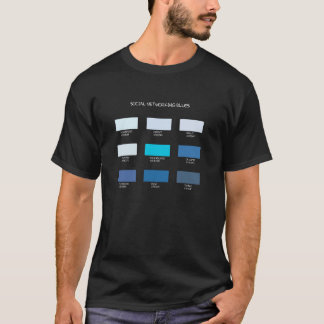 Sozialvernetzungs-Blues T-Shirt