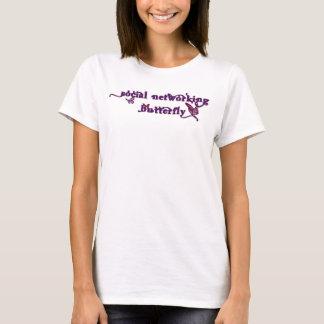 Sozialvernetzungs-Schmetterling T-Shirt