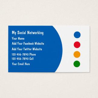 Sozialvernetzungs-Visitenkarten Visitenkarten