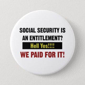 Sozialversicherung ist eine Bezeichnung? Wir Runder Button 7,6 Cm