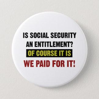 Sozialversicherung ist eine Bezeichnung, wir Runder Button 7,6 Cm