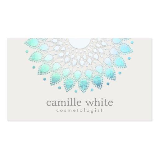 Spa blanc élégant et beauté de Lotus de Carte De Visite