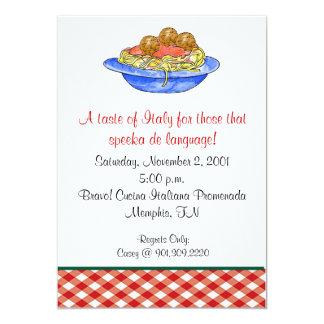 Spaghetti-Abendessen-Einladung Karte