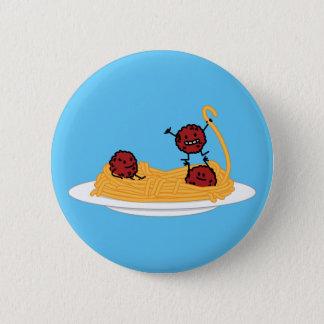 Spaghetti- und Fleischklöschenteigwarennudeln Runder Button 5,7 Cm