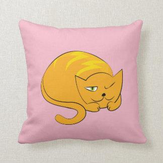 Spähen, SchlafenCartoon-Katze Kissen