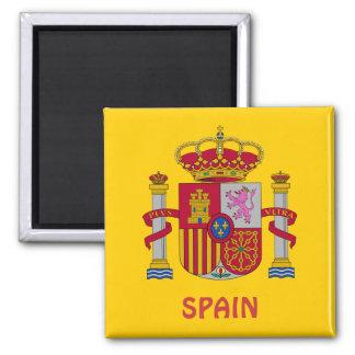 SPAIN* Wappen Magneten Quadratischer Magnet