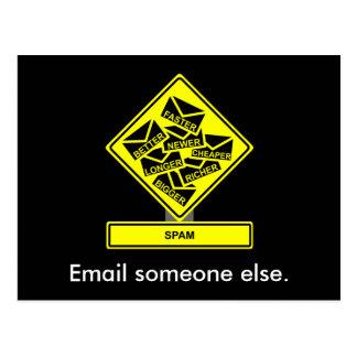 Spam-Postkarte Postkarte