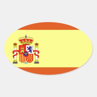 Spanien-Flagge Ovaler Aufkleber