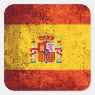 Spanien-Flagge Quadratischer Aufkleber