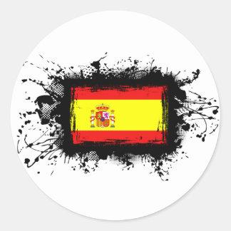 Spanien-Flagge Runder Aufkleber