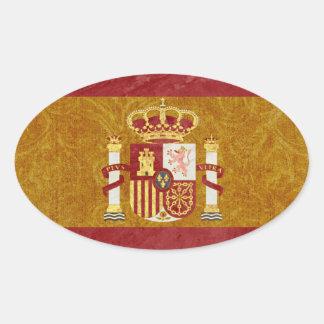 Spanien-Flaggen-Aufkleber Ovaler Aufkleber