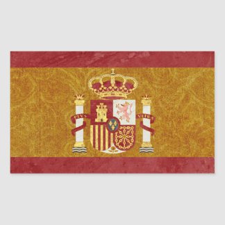 Spanien-Flaggen-Aufkleber-Rechteck Rechteckiger Aufkleber