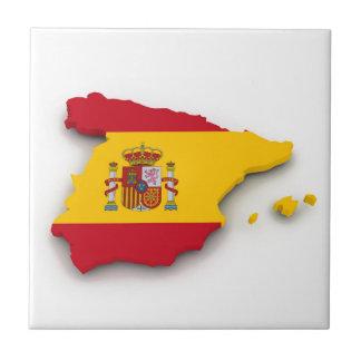 Spanien-Flaggen-Karte Kleine Quadratische Fliese