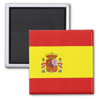 Spanien-Flaggen-Magnet Quadratischer Magnet