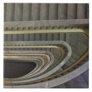 Spanien, Madrid, Circulo de Bellas Artes, staircas Fliese