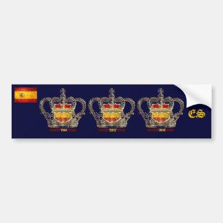 Spanien-Meister von Europa-Euro 2012 Könige Autoaufkleber