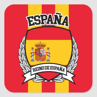 Spanien Quadratischer Aufkleber