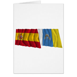 Spanien und Kanarische Inseln, die Flaggen Karte