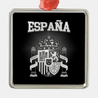 Spanien-Wappen Silbernes Ornament