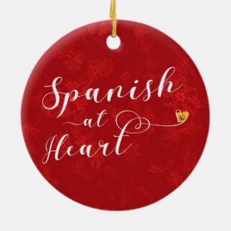 Spanisch an der Herz-Feiertags-Dekoration, Spanien Keramik Ornament
