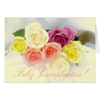 Spanisch: Geburtstag Cumpleanos Grußkarte