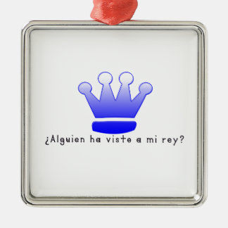 Spanisch-König Silbernes Ornament