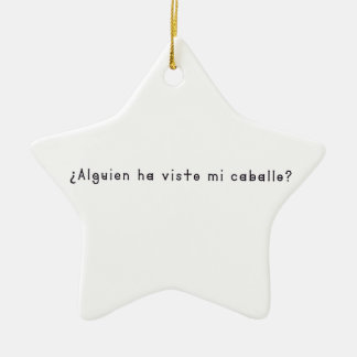 Spanisch-Pferd Keramik Ornament