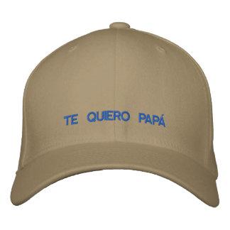Spanisch Te Quiero Papa gestickte Kappe Bestickte Mütze