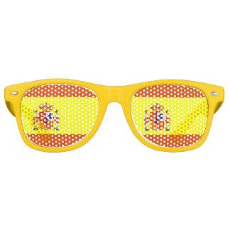 Spanische Flaggen-Spaß-Sonnenbrille Partybrille