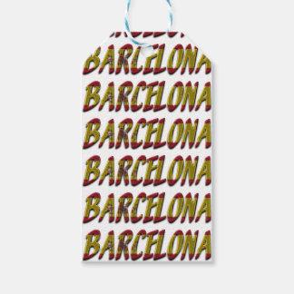 Spanische Flaggen-Typografie Barcelonas Spanien Geschenkanhänger