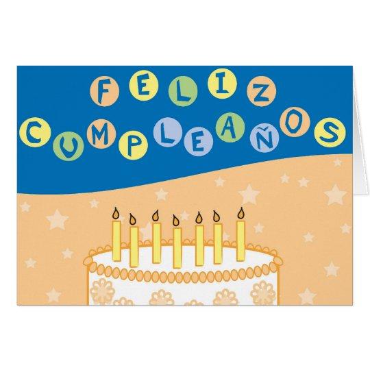 Spanische Geburtstagskarte Grußkarte