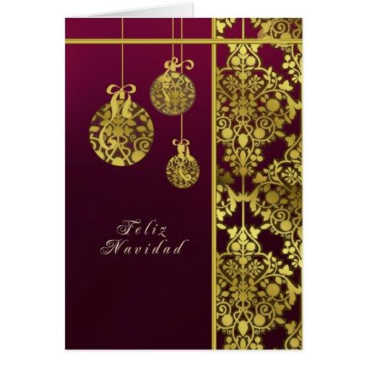 spanische karte der frohen weihnachten elegant zazzle. Black Bedroom Furniture Sets. Home Design Ideas