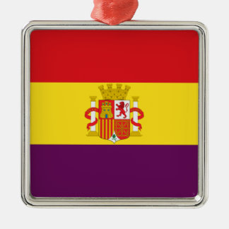 Spanische republikanische Flagge - Bandera Silbernes Ornament