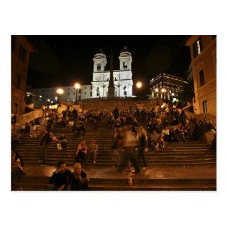 Spanische Schritte bis zum Nacht Postkarte