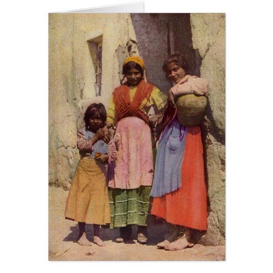 Spanische Sinti und Roma-Mädchen Grußkarte