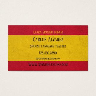 Spanische Sprachlehrer-Visitenkarte Visitenkarte