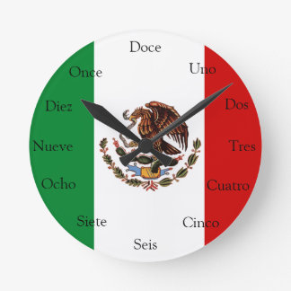 Spanische Uhr mit mexikanischer Flagge
