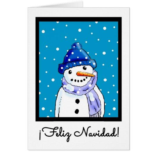 Spanische Weihnachtskarte - Feliz Navidad Grußkarte