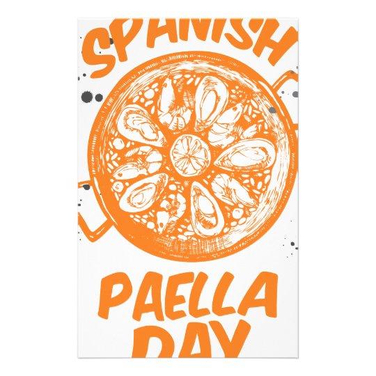 Spanischer Paella-Tag Briefpapier