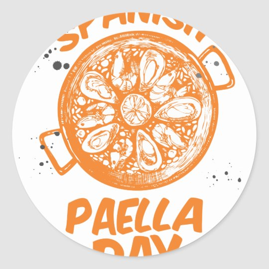 Spanischer Paella-Tag Runder Aufkleber