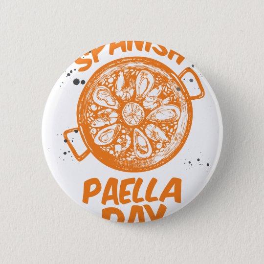 Spanischer Paella-Tag Runder Button 5,1 Cm