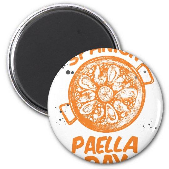 Spanischer Paella-Tag Runder Magnet 5,1 Cm