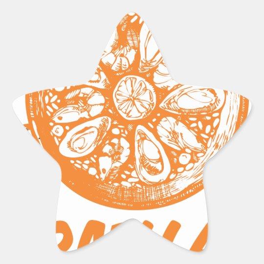 Spanischer Paella-Tag Stern-Aufkleber