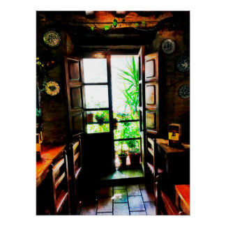 Spanisches Bar in Granada Poster