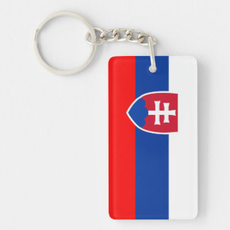 Spanisches Nationssymbol Slowakei-Landesflagge Einseitiger Rechteckiger Acryl Schlüsselanhänger