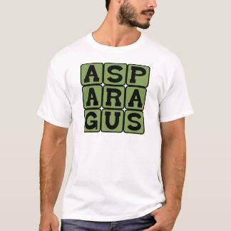 Spargel, aufgehaltenes Gemüse T-Shirt