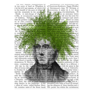 Spargel-Farn-Kopf-Pflanzen-Kopf Postkarte