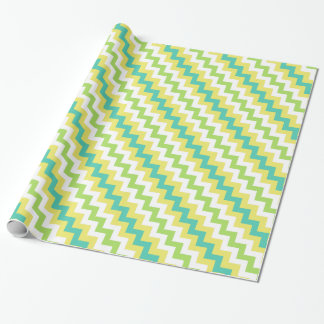 Sparren-Packpapier: Gelb, grün, weiß Geschenkpapier